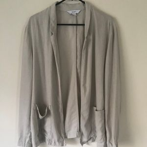 Old Navy Tan Cream Linen Relaxed L Blazer
